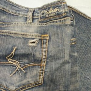 Silver Distressed Jeans (Sam)